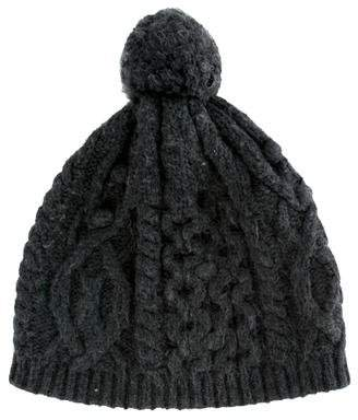 White + Warren Pom-Pom Rib Knit Beanie