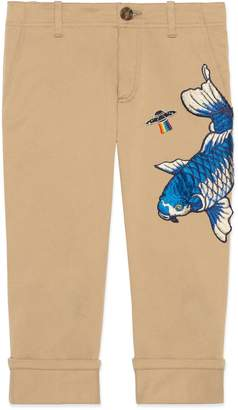 Gucci Children's gabardine pant with UFO and fish