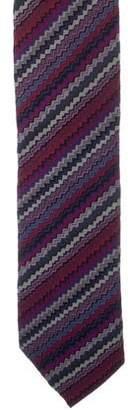 Missoni Chevron Print Silk Tie