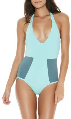 L-Space L Space Fireside Halter One-Piece Swimsuit