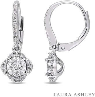 Laura Ashley FINE JEWELRY Laura Asley 3/8 CT. T.W. Genuine White Diamond Drop Earrings