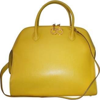 Salvatore Ferragamo Vintage Yellow Leather Handbag