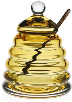 William Yeoward Honeycomb Honey Jar & Spoon