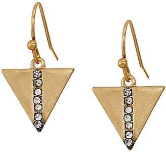 Canvas Sm Triangle with Pave Drop Earrings