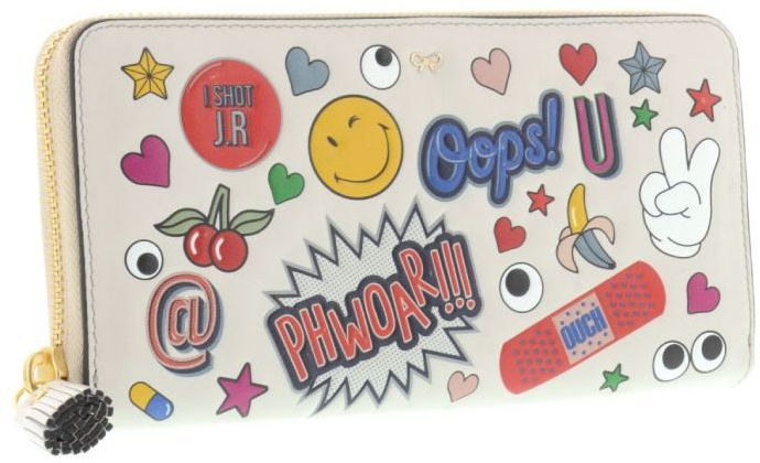 Anya Hindmarch Anya Hindmarch All Over Stickers Large Wallet