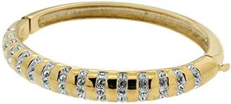 Jean Pierre Women's Bracelet Brass Partially Gold-Plated Synthetic White Diamond Round Cut 0 cm - HEJBG618 22 1 N14