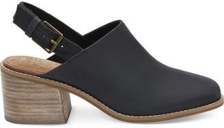Toms Black Leather Women's Leila Slingback Booties