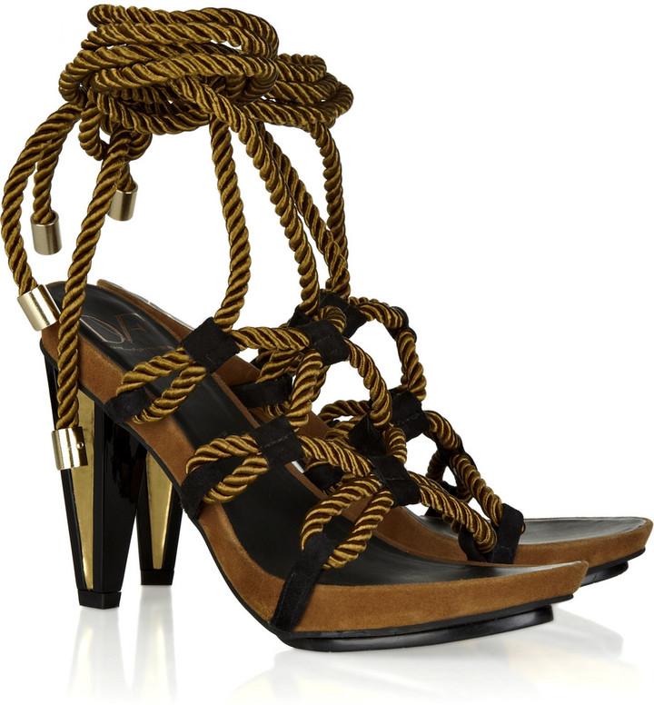 Diane von Furstenberg Voleta rope-tie suede sandals