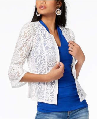 INC International Concepts I.n.c. Lace Peplum Jacket, Created for Macy's