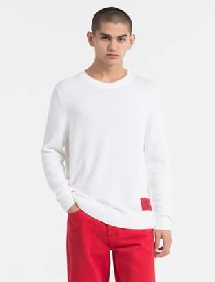 Calvin Klein regular fit monogram logo cotton sweater