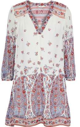 4605a0bdd3ea COM Joie Ofelie Printed Silk Crepe De Chine Mini Dress