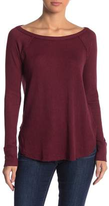 Lucky Brand Ribbed Long Sleeve Thermal Sweater