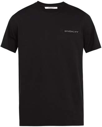 Givenchy Cuban-fit sequin logo-embroidered T-shirt