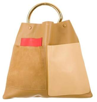 Celine Geometric One Handle Tote gold Geometric One Handle Tote