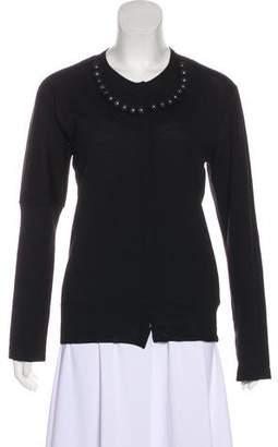Sacai Wool Button-Up Cardigan
