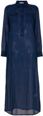 Tomas Maier leopard palm dress