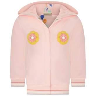 Fendi FendiBaby Girls Pink Flower Cardigan With Hood
