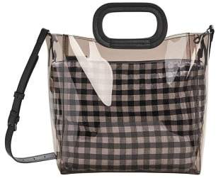 Violeta BY MANGO Vichy vinyl bag