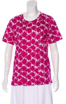Balenciaga Printed Short Sleeve Top