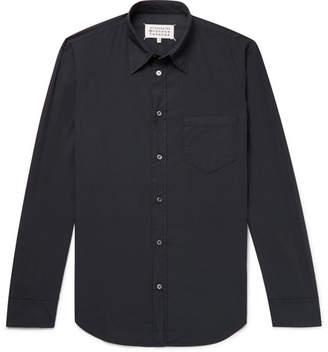Maison Margiela Slim-Fit Garment-Dyed Cotton Shirt - Storm blue