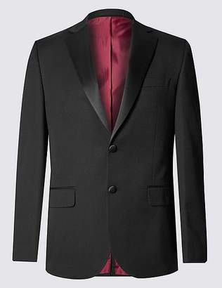 Marks and Spencer Big & Tall Black Tailored Fit Jacket