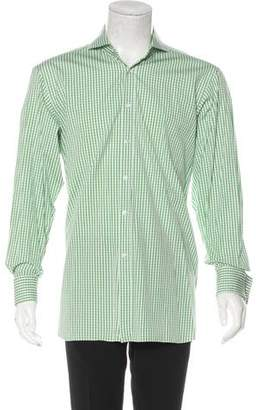 Ralph Lauren Purple Label Gingham French Cuff Shirt