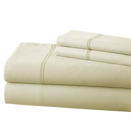 Amrapur T800 Cotton Rich 4-Piece Sheet Set – King – Ivory
