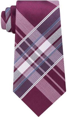 Kenneth Cole Reaction Men's Aquamarine Plaid Tie