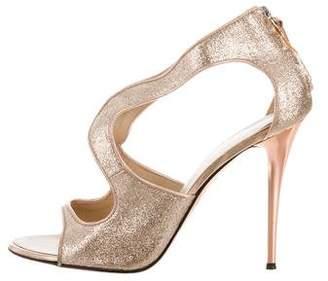 Barneys New York Barney's New York Glitter Cutout Sandals