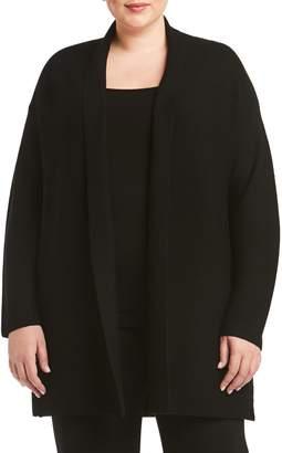 Toni T by Toni Plus Merino Wool Long Sleeve Cardigan