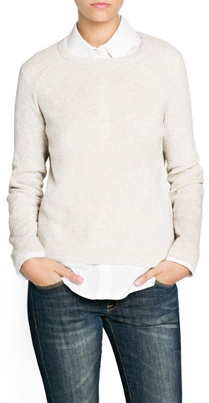 MANGO Ribbed angora-blend sweater