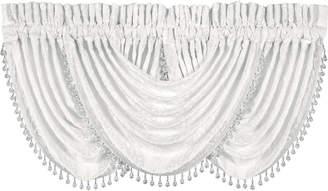 "J Queen New York Bianco 33"" x 49"" Waterfall Window Valance"