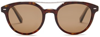 Ermenegildo Zegna Women's Acetate Round Sunglasses $335 thestylecure.com