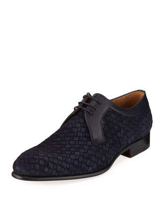 Magnanni Woven Lace-Up Loafer