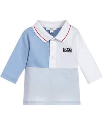 HUGO BOSS Kids Cut And Sew Long Sleeved Polo
