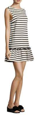 Marc Jacobs Striped Pom-Pom Dress