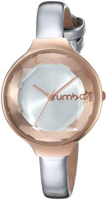 RumbaTime Women's 'Orchard Gem Patent' Quartz Metal and Leather Casual Watch, Color:-Toned (Model: 28522)