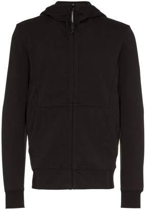 C.P. Company black long sleeve zip hoodie
