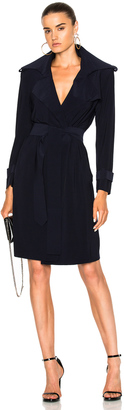 Norma Kamali Double Breasted Trench Wrap Dress $295 thestylecure.com