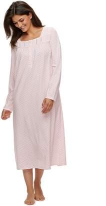 Croft & Barrow Women's Long Pintuck Nightgown