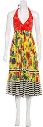 Jean Paul Gaultier Printed Halter Dress