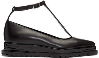 Sacai Black Two-In-One Mary Jane Flats