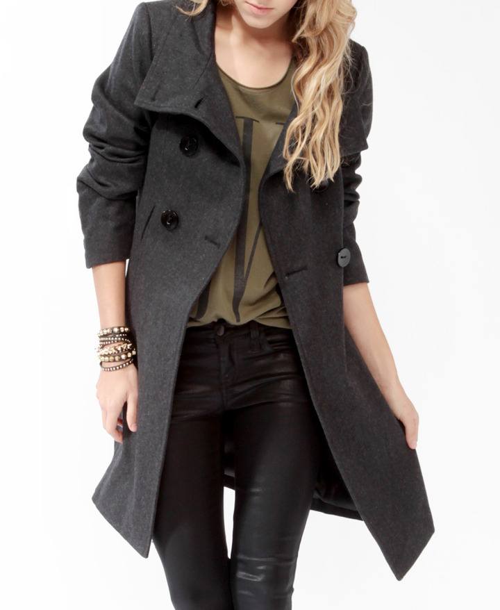 Forever 21 Heavy Wool-Blend Coat