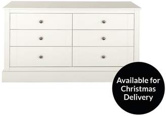 Consort Furniture Limited Dover Ready Assembled Wide 6 Drawer Chest
