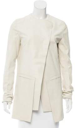Fendi Leather Asymmetrical Jacket w/ Tags
