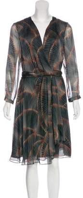 Armani Collezioni Silk Surplice Dress w/ Tags