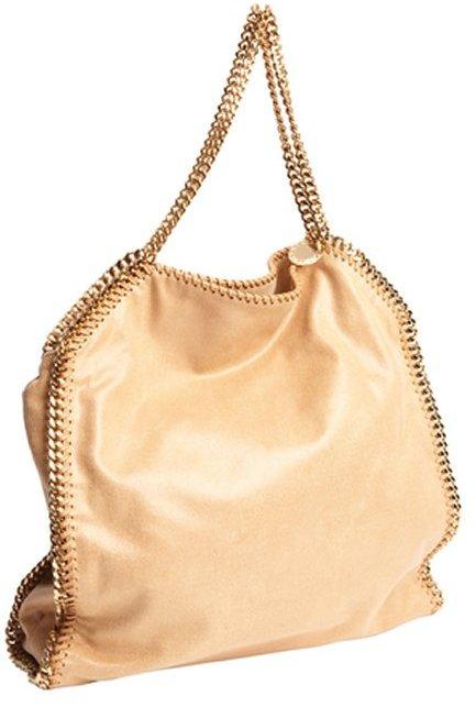 Stella McCartney tan faux leather 'Falabella' shoulder bag
