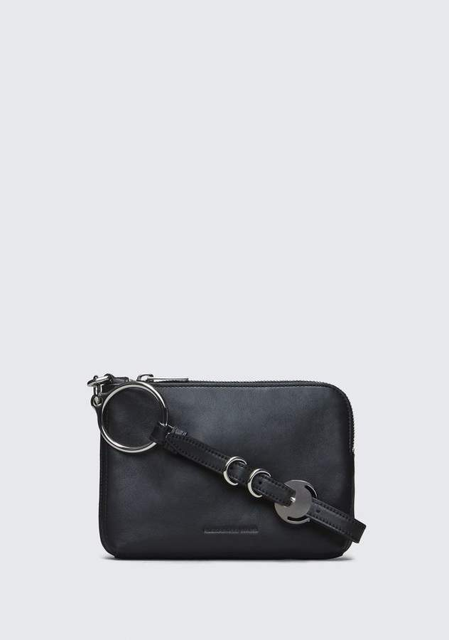 Alexander Wang BLACK ACE SMALL WRISTLET SMALL LEATHER GOOD
