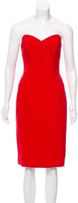 Milly Strapless Knee-Length Dress