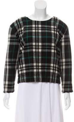 Lovers + Friends Plaid Wool-Blend Top